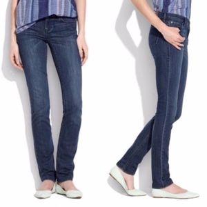 "Madewell Rail Straight Dark Wash Tall Jeans 34"" In"